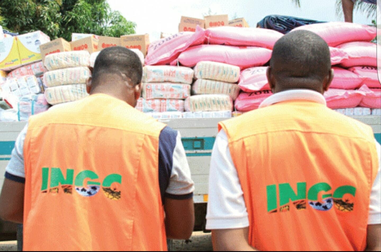 INGC em Nampula Recebe 10 toneladas de produtos alimentares